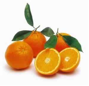 オレンジ、左下